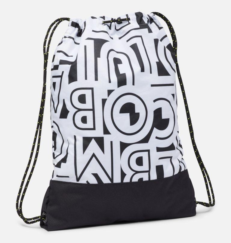 Drawstring Pack | 100 | O/S Drawstring Pack, White Typo, Black, back