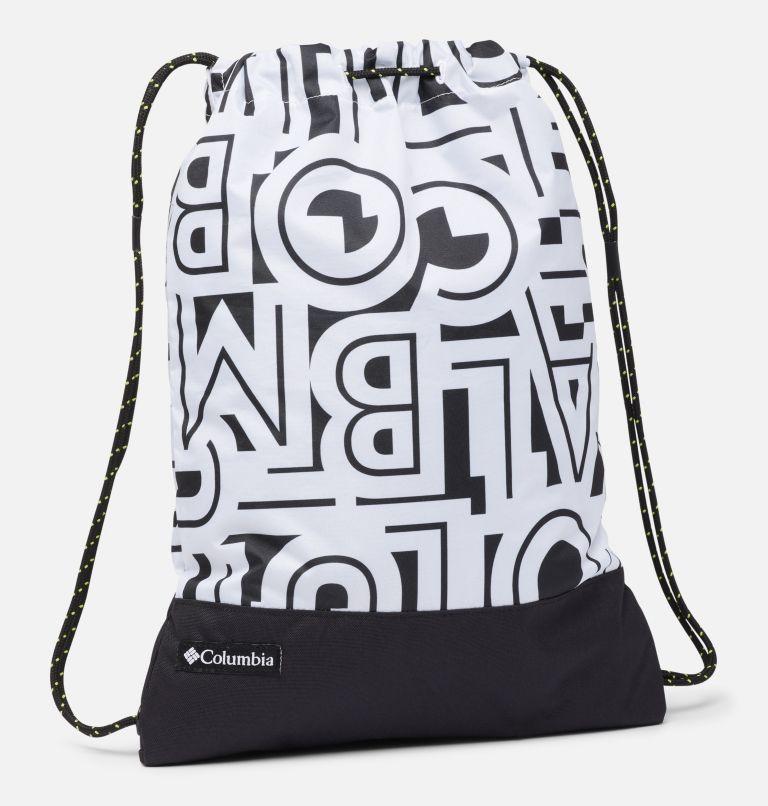 Drawstring Pack | 100 | O/S Drawstring Pack, White Typo, Black, front