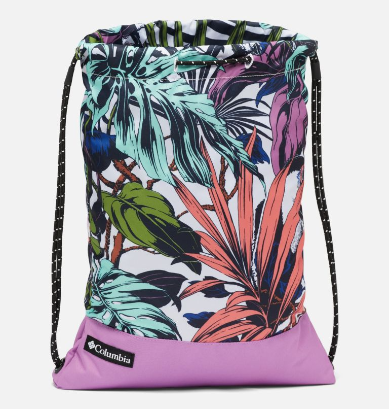 Drawstring Pack | 101 | O/S Drawstring Pack, White Toucanical, Blossom Pink, a1