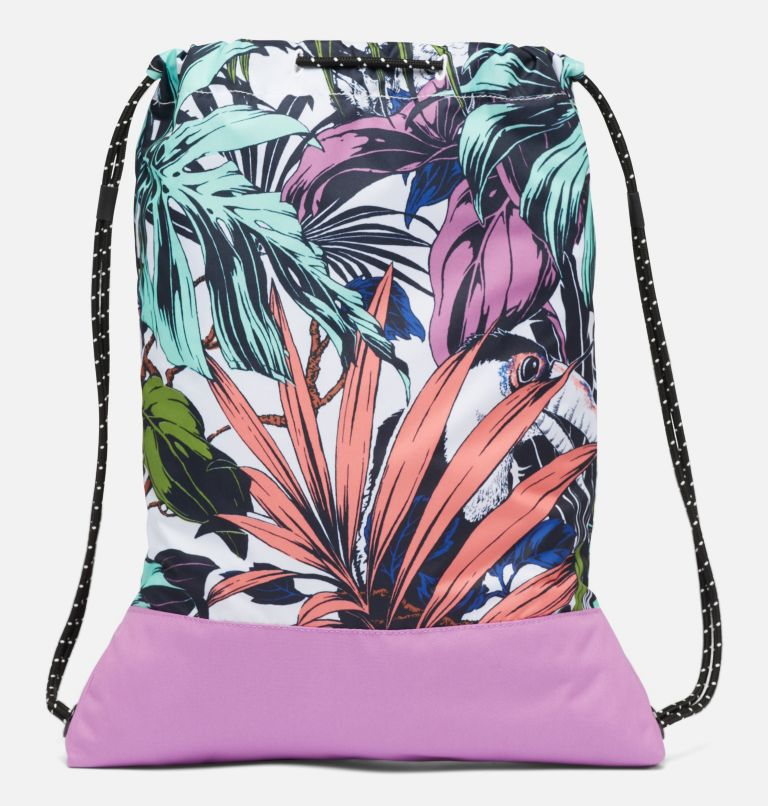 Drawstring Pack | 101 | O/S Sac à cordon de serrage, White Toucanical, Blossom Pink, back