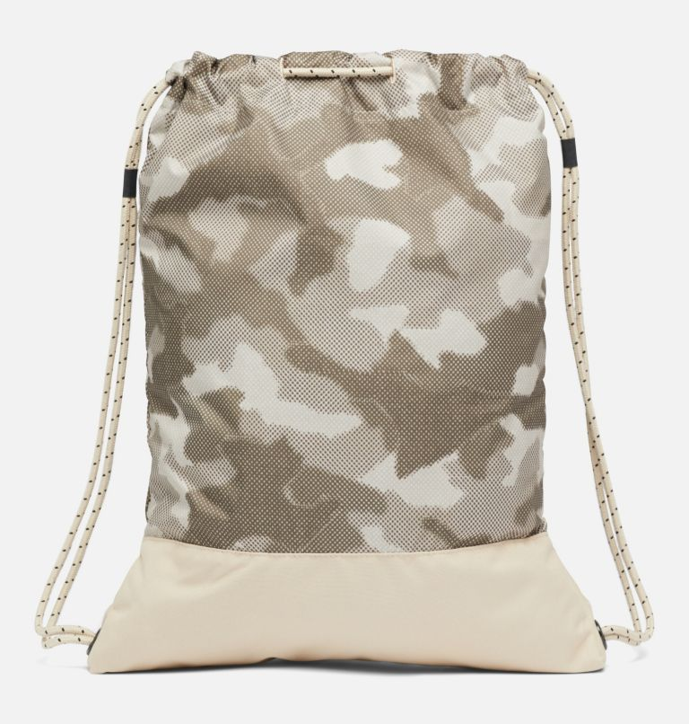 Drawstring Pack   271   O/S Drawstring Pack, Ancient Fossil Spotted Camo, back