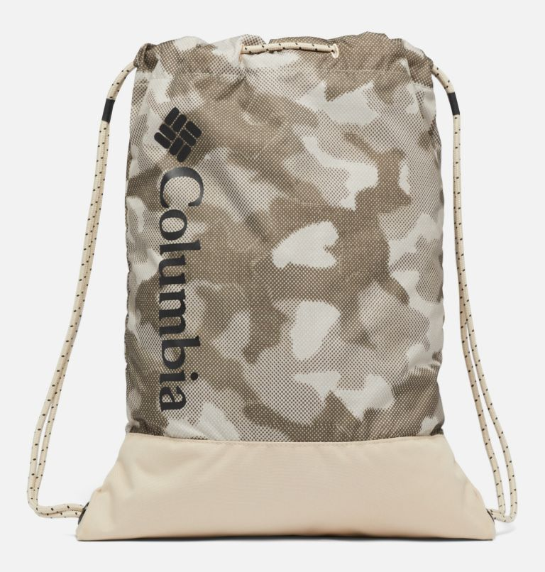 Drawstring Pack   271   O/S Drawstring Pack, Ancient Fossil Spotted Camo, front