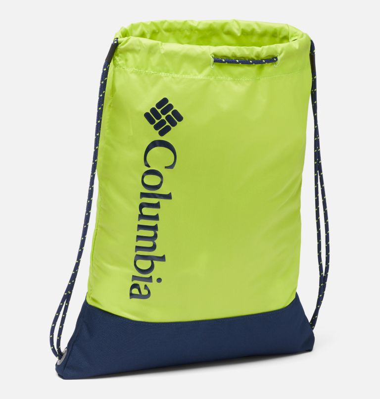 Drawstring Pack   386   O/S Drawstring Pack, Bright Chartreuse, Collegiate Navy, a1