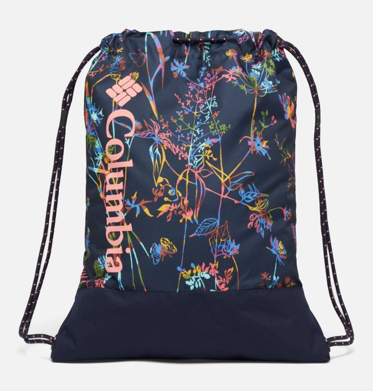 Drawstring Pack | 472 | O/S Drawstring Pack, Dark Nocturnal Art Bouquet, front