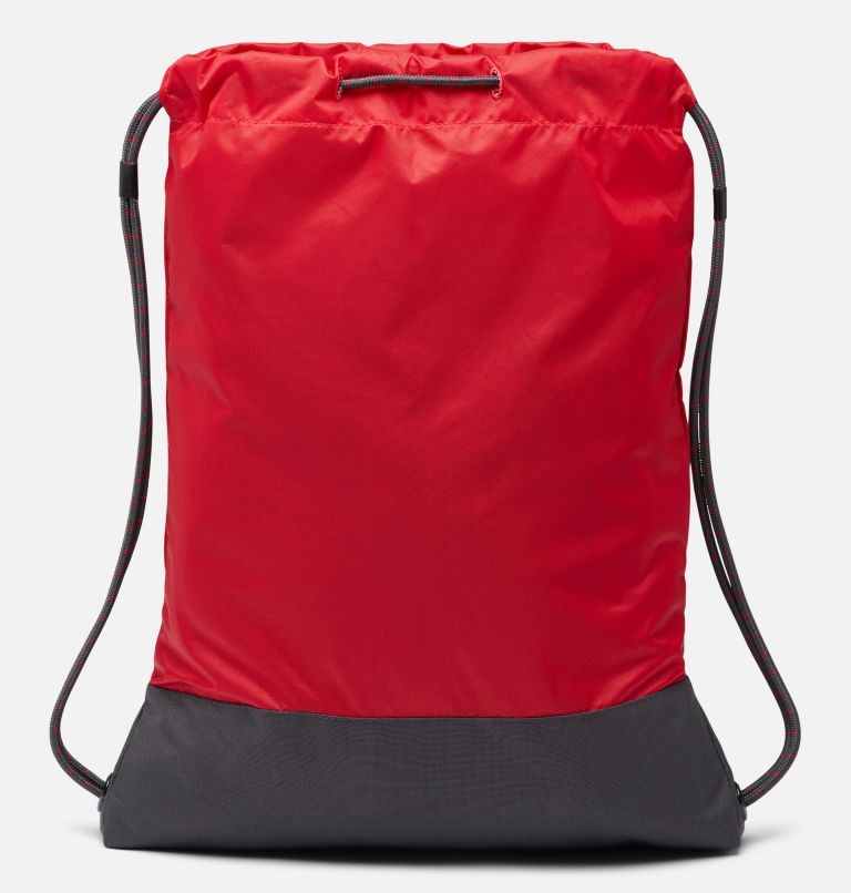 Drawstring Pack | 613 | O/S Drawstring Pack, Mountain Red, Shark, back