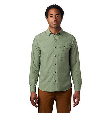 Men's Greenstone™ Long Sleeve Shirt Greenstone™ Long Sleeve Shirt | 663 | L, Field Scatter Dot Prt, front