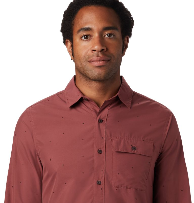 Greenstone™ Long Sleeve Shirt | 663 | S Men's Greenstone™ Long Sleeve Shirt, Washed Rock Scatter Dot Print, a1