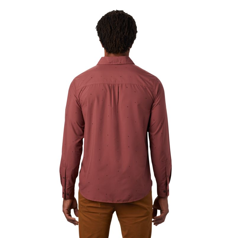 Greenstone™ Long Sleeve Shirt | 663 | S Men's Greenstone™ Long Sleeve Shirt, Washed Rock Scatter Dot Print, back