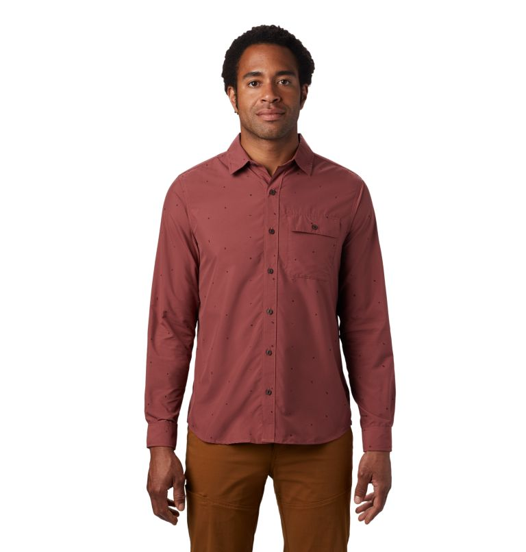 Greenstone™ Long Sleeve Shirt | 663 | S Men's Greenstone™ Long Sleeve Shirt, Washed Rock Scatter Dot Print, front
