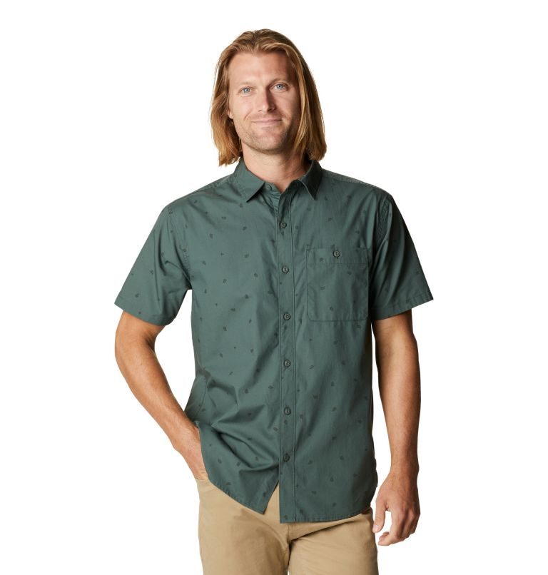 Conness Lakes™ Short Sleeve Shirt | 352 | XXL Men's Conness Lakes™ Short Sleeve Shirt, Black Spruce Grasslands Print, front