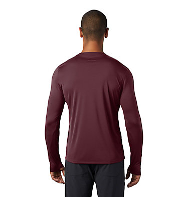 Men's Wicked Tech™ Long Sleeve T-Shirt Wicked Tech™ Long Sleeve T | 402 | L, Washed Raisin, back