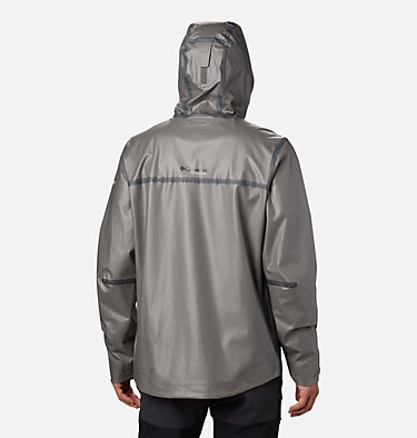 Chaqueta exterior técnica OutDry Ex™ Eco II para hombre OutDry Ex ECO™ II Tech Shell | 023 | L, City Grey, back