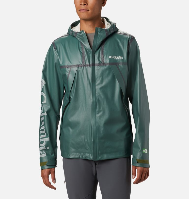 OutDry Ex ECO™ II Tech Shell   369   M Men's OutDry™ Ex Eco II Tech Shell, Thyme Green, front