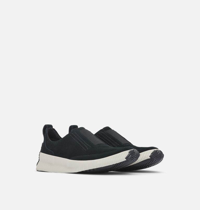 OUT N ABOUT™ PLUS SLIP ON | 010 | 6.5 Womens Out N About™ Plus Slip On, Black, 3/4 front