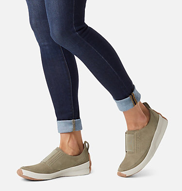 Women's Out N About™ Plus Slip On OUT N ABOUT™ PLUS SLIP ON | 365 | 7, Sage, 3/4 front