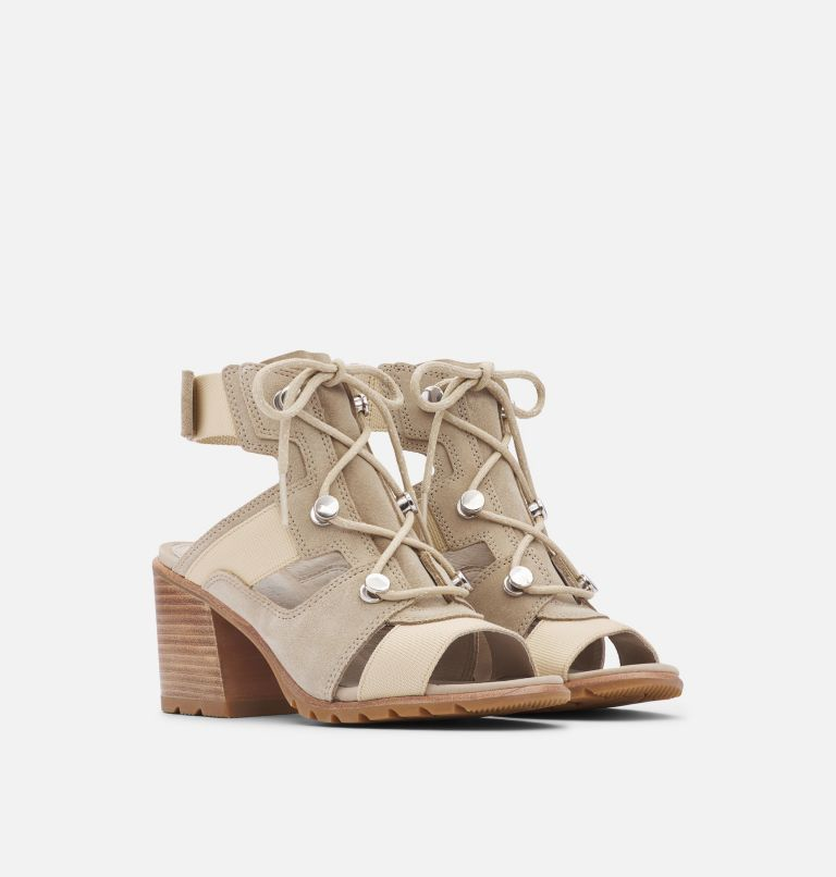NADIA™ LACE | 271 | 10 Women's Nadia™ Lace Sandal, Ancient Fossil, 3/4 front