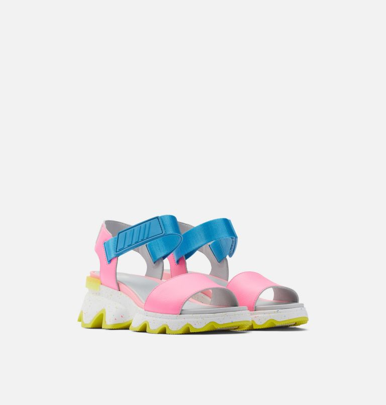 KINETIC™ SANDAL | 603 | 8 Womens Kinetic™ Sandal, Bubble Gum, Riptide, 3/4 front