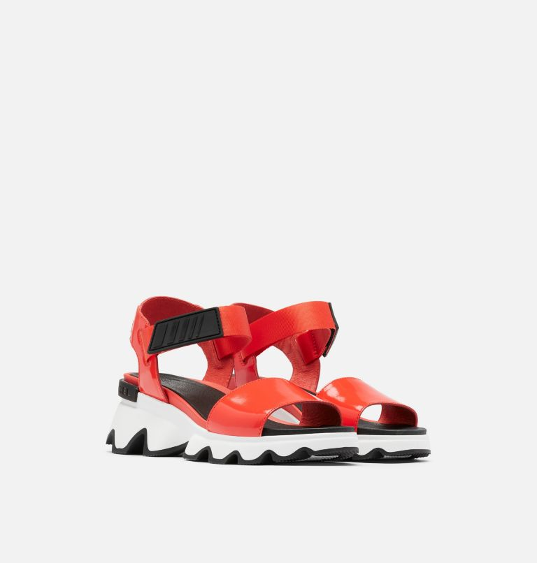 KINETIC™ SANDAL | 854 | 7.5 Womens Kinetic™ Sandal, Signal Red, 3/4 front