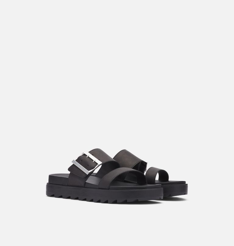 ROAMING™ BUCKLE SLIDE | 010 | 10.5 Women's Roaming™ Buckle Slide, Black, 3/4 front