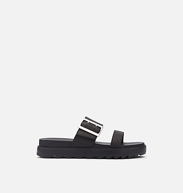 Women's Roaming™ Buckle Slide ROAMING™ BUCKLE SLIDE | 125 | 7.5, Black, front