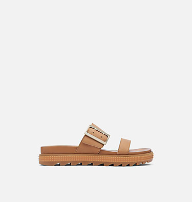 Women's Roaming™ Buckle Slide ROAMING™ BUCKLE SLIDE | 125 | 7.5, Camel Brown, front