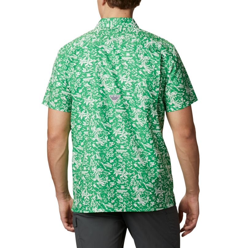 CLG Super Slack Tide™ Shirt | 346 | S Men's Collegiate PFG Super Slack Tide™ Shirt, UO - Fuse Green, back