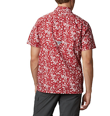 Men's Collegiate PFG Super Slack Tide™ Shirt - Alabama CLG Super Slack Tide™ Shirt | 678 | L, ALA - Red Velvet, back