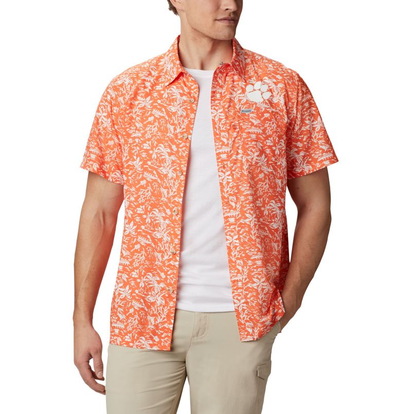 Men's Collegiate PFG Super Slack Tide™ Shirt - Clemson Men's Collegiate PFG Super Slack Tide™ Shirt - Clemson, front