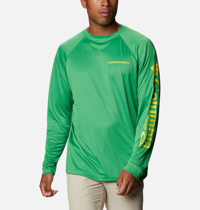 Men's Collegiate PFG Terminal Tackle™ Long Sleeve Shirt - Oregon Men's Collegiate PFG Terminal Tackle™ Long Sleeve Shirt - Oregon, front