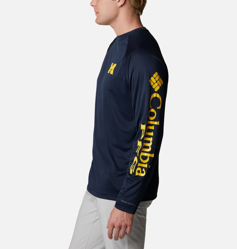 Men's Collegiate PFG Terminal Tackle™ Long Sleeve Shirt - Michigan Men's Collegiate PFG Terminal Tackle™ Long Sleeve Shirt - Michigan, a1