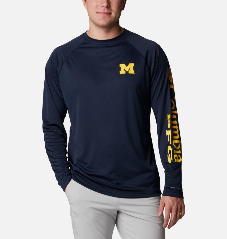 Men's Collegiate PFG Terminal Tackle™ Long Sleeve Shirt - Michigan Men's Collegiate PFG Terminal Tackle™ Long Sleeve Shirt - Michigan, front