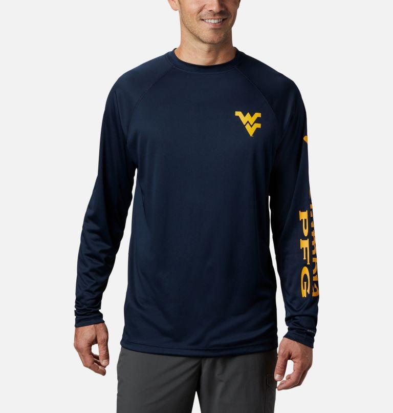 Men's Collegiate PFG Terminal Tackle™ Long Sleeve Shirt - West Virginia Men's Collegiate PFG Terminal Tackle™ Long Sleeve Shirt - West Virginia, front