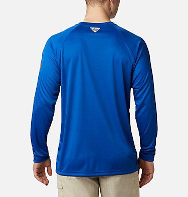 Men's Collegiate PFG Terminal Tackle™ Long Sleeve Shirt - Florida CLG Terminal Tackle™ LS Shirt | 436 | XXL, FLA - Azul, Spark Orange, back