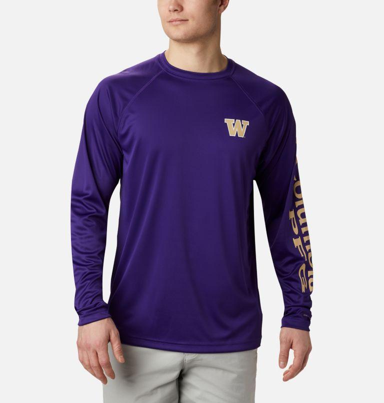 Men's Collegiate PFG Terminal Tackle™ Long Sleeve Shirt - Washington Men's Collegiate PFG Terminal Tackle™ Long Sleeve Shirt - Washington, front