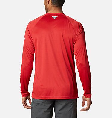 Men's Collegiate PFG Terminal Tackle™ Long Sleeve Shirt - Ohio State CLG Terminal Tackle™ LS Shirt   610   M, OS - Intense Red, White, back