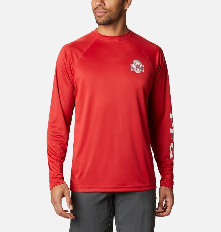 Men's Collegiate PFG Terminal Tackle™ Long Sleeve Shirt - Ohio State Men's Collegiate PFG Terminal Tackle™ Long Sleeve Shirt - Ohio State, front
