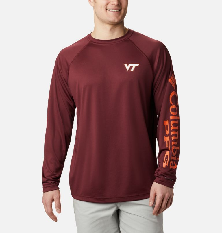 Men's Collegiate PFG Terminal Tackle™ Long Sleeve Shirt - Virginia Tech Men's Collegiate PFG Terminal Tackle™ Long Sleeve Shirt - Virginia Tech, front