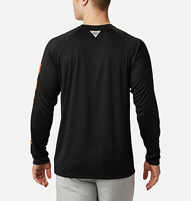 Men's Collegiate PFG Terminal Tackle™ Long Sleeve Shirt - Oregon State CLG Terminal Tackle™ LS Shirt | 820 | S, OSU - Tangy Orange, Black, back
