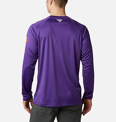 Men's Collegiate PFG Terminal Tackle™ Long Sleeve Shirt - Clemson CLG Terminal Tackle™ LS Shirt | 835 | S, CLE - Vivid Purple, Spark Orange, back
