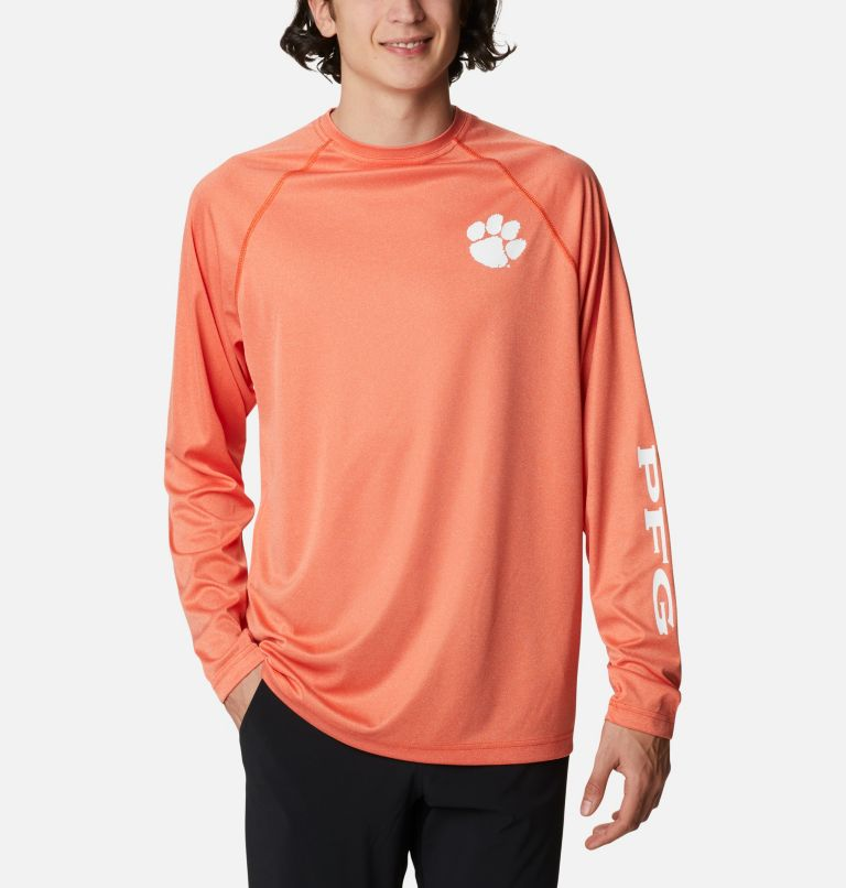 Men's Collegiate PFG Terminal Tackle™ Long Sleeve Shirt - Clemson Men's Collegiate PFG Terminal Tackle™ Long Sleeve Shirt - Clemson, front