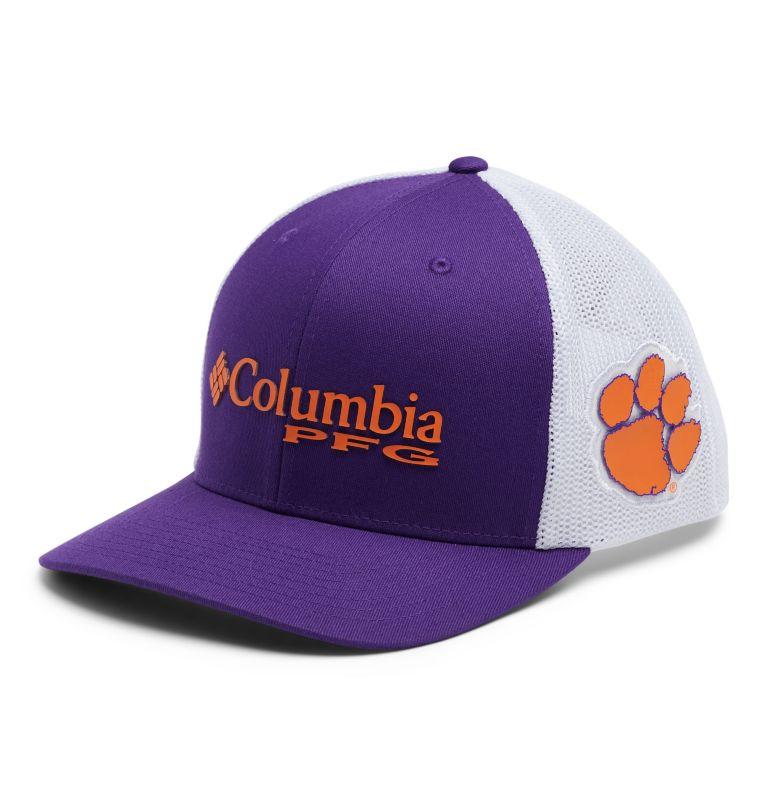 CLG PFG Mesh Snap Back™ Ball Cap | 558 | O/S PFG Mesh Snap Back™ Ball Cap - Clemson, CLE - Vivid Purple, front
