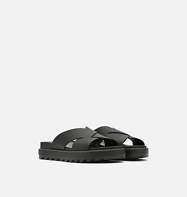 Women's Roaming™ Criss Cross Slide ROAMING™ CRISS CROSS SLIDE | 010 | 10, Black, 3/4 front