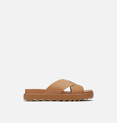 Women's Roaming™ Criss Cross Slide ROAMING™ CRISS CROSS SLIDE | 240 | 6.5, Camel Brown, front