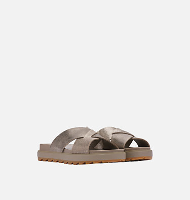 Sandalia Roaming™ Criss-Cross Slide Para Mujer ROAMING™ CRISS CROSS SLIDE | 365 | 10.5, Ash Brown, 3/4 front
