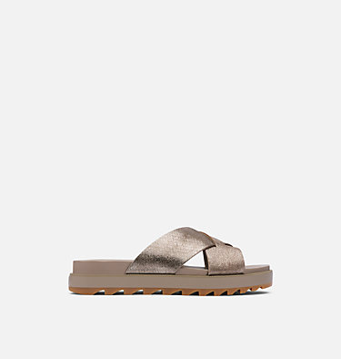 Sandalia Roaming™ Criss-Cross Slide Para Mujer ROAMING™ CRISS CROSS SLIDE | 365 | 10.5, Ash Brown, front
