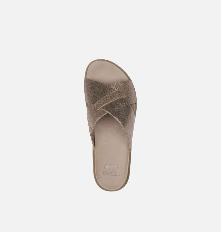 ROAMING™ CRISS CROSS SLIDE | 240 | 9.5 Women's Roaming™ Criss Cross Slide, Ash Brown, top