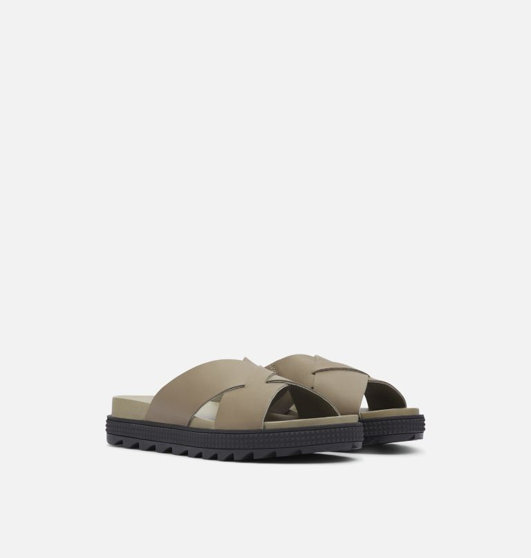 ROAMING™ CRISS CROSS SLIDE | 365 | 5.5 Women's Roaming™ Criss Cross Slide, Sage, 3/4 front