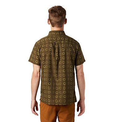 Men's El Portal™ Short Sleeve Shirt El Portal™ Short Sleeve Shirt | 054 | L, Dark Army Geo Print, back