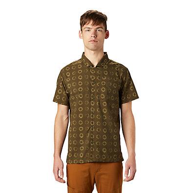Men's El Portal™ Short Sleeve Shirt El Portal™ Short Sleeve Shirt | 054 | L, Dark Army Geo Print, front