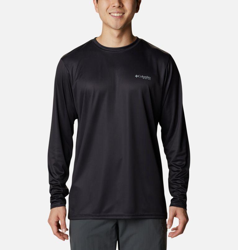 Terminal Tackle PFG™ Country Triangle LS | 011 | XXL Men's PFG Terminal Tackle™ Country Triangle Long Sleeve Shirt, Black, USA Flag, back